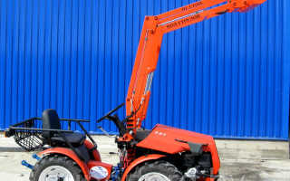 Минитрактор 132П 4х4WD (Двигатель HONDA, Погрузчик):