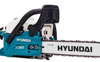 Бензопила Hyundai X360: характеристики, отзывы, инструкция