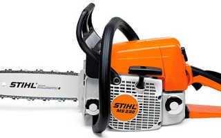 Бензопила Stihl MS 230: характеристики, отзывы, описание, аналоги