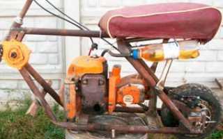 Мопед из бензопилы: фото сборки, видео испытаний