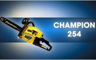 Champion 254-18: обзор бензопилы, отзывы, характеристики