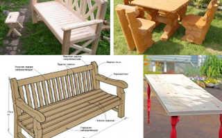 Садовая мебель из дерева своими руками (38 фото): видео-инструкция по монтажу, особенности изготовления, чертежи, фото