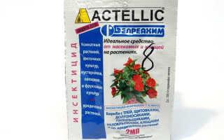 Инсектицид Актеллик — инструкция по применению и расход